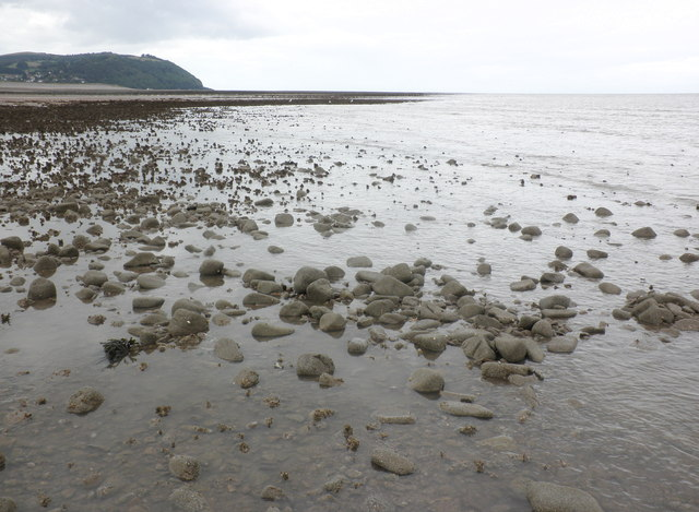 The water's edge at low tide, Dunster beach