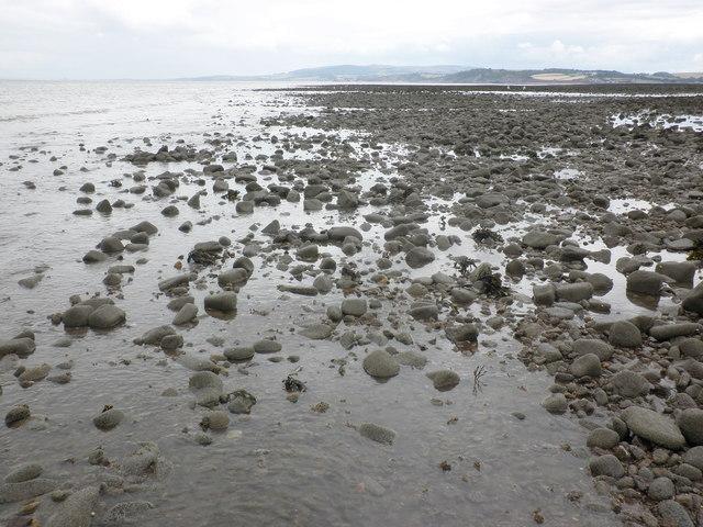 Stony sea bed, Dunster