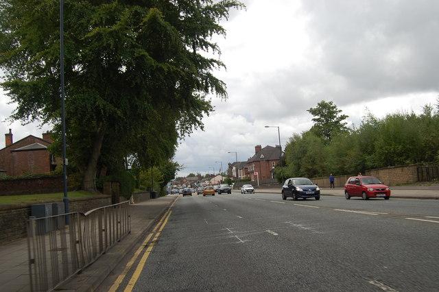 Bury New Road looking south