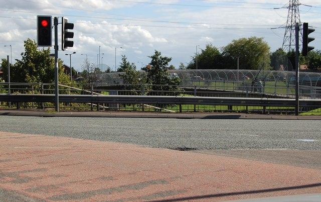 Footbridge at Junction 17 on the M60