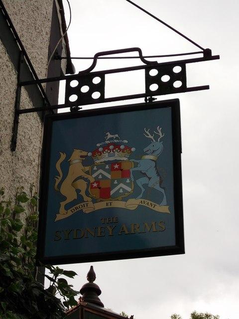 The Sydney Arms, Pub Sign, Chislehurst
