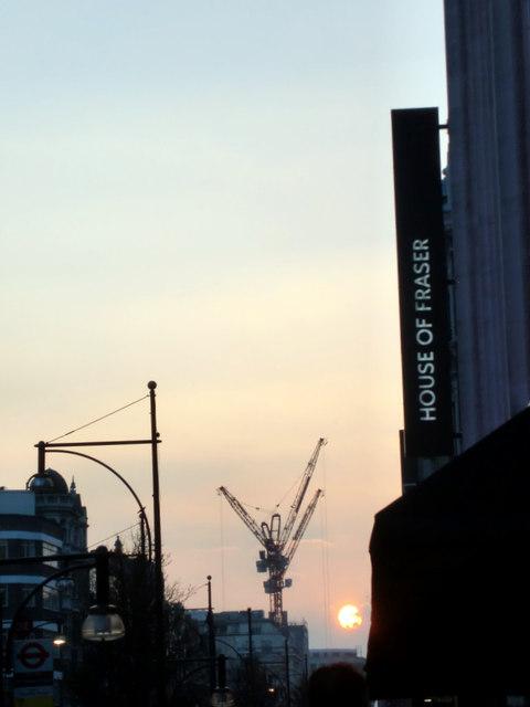Oxford Street Sunset, London W1