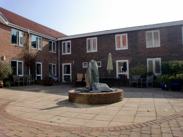 Courtyard, Priory Court Care Home, Ewell Village, Surrey