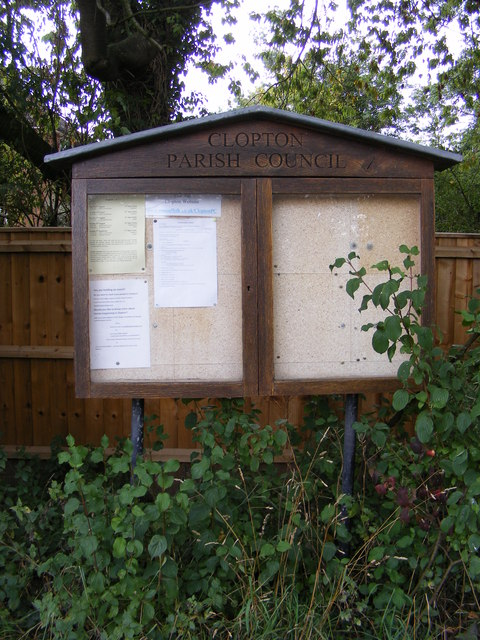 Clopton Parish Notice Board