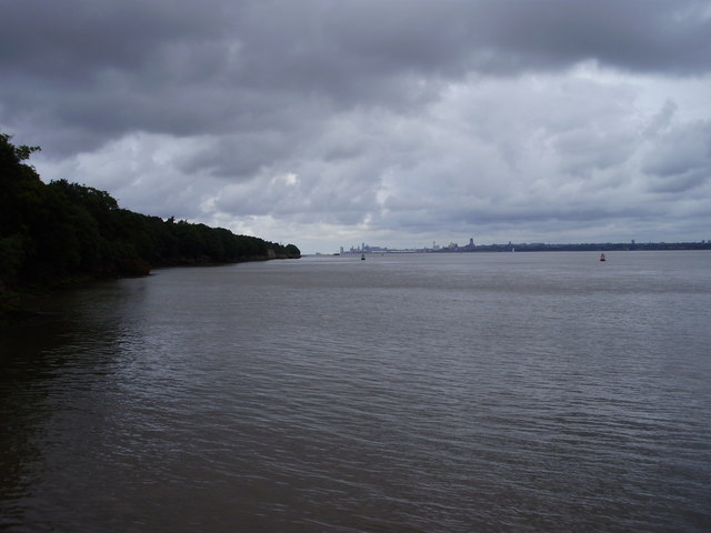 The Mersey from Eastham jetty