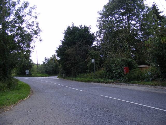B1079 Grundisburgh Road & Potash Corner Postbox