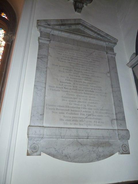 Abbotts Ann - St Mary: memorial (4)