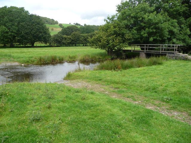 Ford and footbridge on the Afon Teifi
