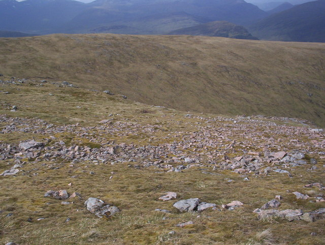 Leum Uilleim summit to Beinn a' Bhric ridge