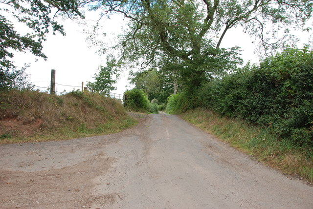Road goes off to Whitley Heath