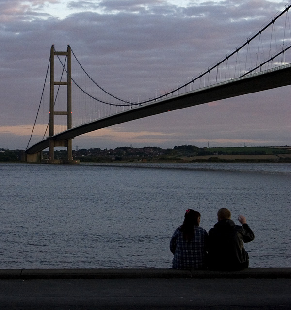 Humber Bridge at dusk