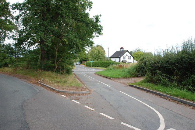Road Junction with A5013 near Eccleshall