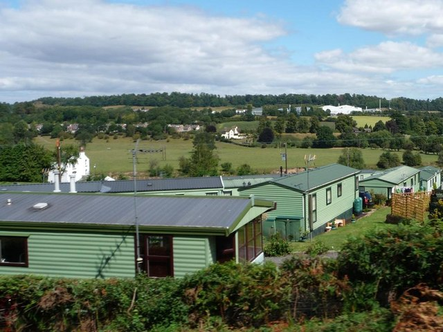 Static caravan site on the banks of the Severn