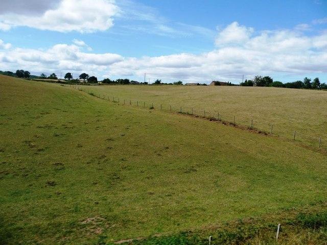 Fenced fields near Eardington