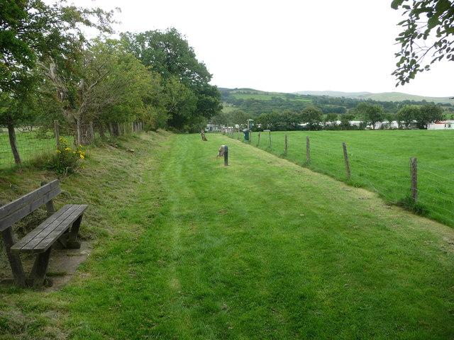 Footpath approaching Bryn y Gors caravan park