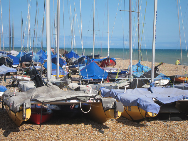Catamarans at Bexhill Sailing Club