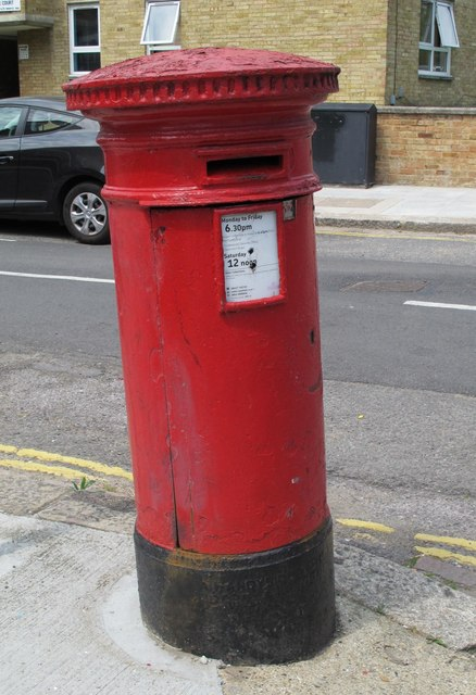 """""""Anonymous"""" (Victorian) postbox, Fordwych Road / Garlinge Road, NW2"""