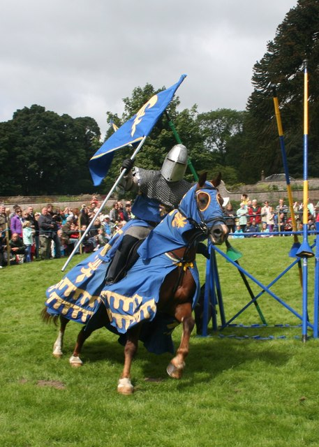 Blue Knight at Castle Fraser