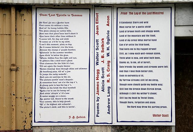 Poets' Corner, Selkirk