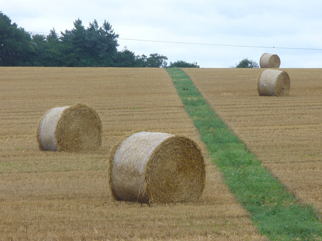 Bales and Footpath