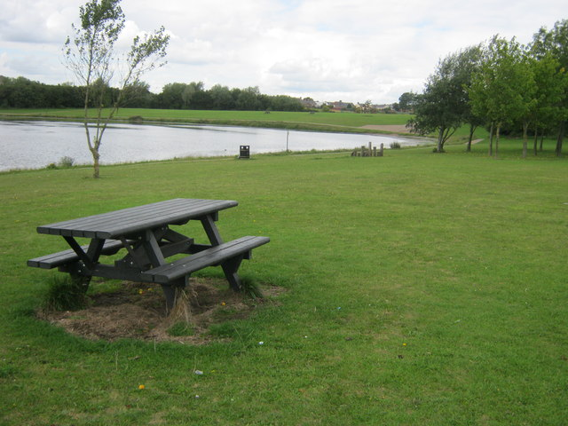 Picnic area at Hetton Lyons Country Park