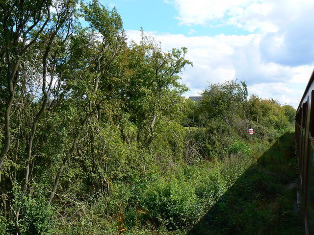 View south from the southern end of the Swindon and Cricklade Railway near Haydon Wick