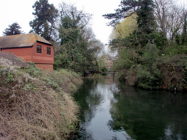 Lake, Ewell West, from Chessington Road, Epsom  (B2200)