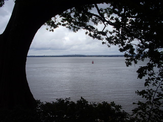 The River Mersey from Eastham