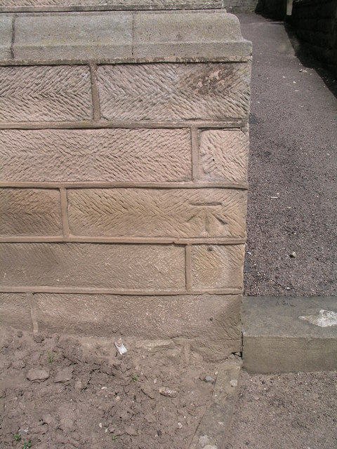 Cut bench mark on Matlock council offices