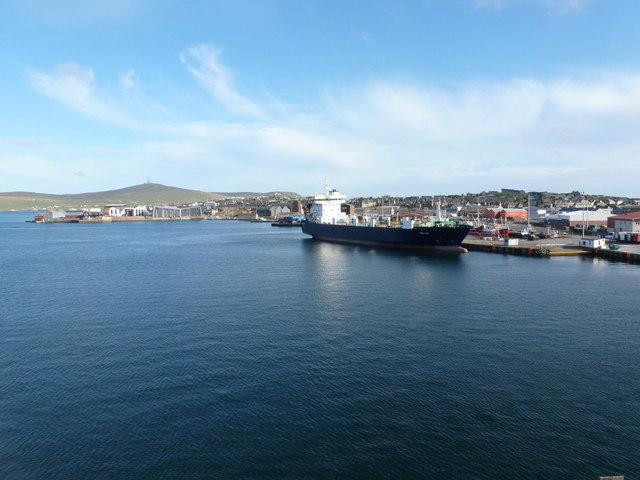 Lerwick: big ship docked at Holmsgarth
