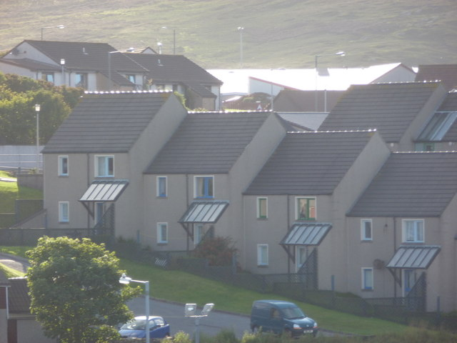 Lerwick: houses in Holmsgarth