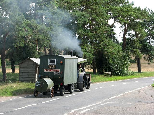 A steam roller at Ashdon