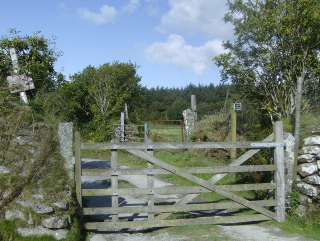 Access gate to Twelve Men's Moor