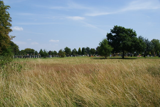 The western end of Merton and Sutton Cemetery