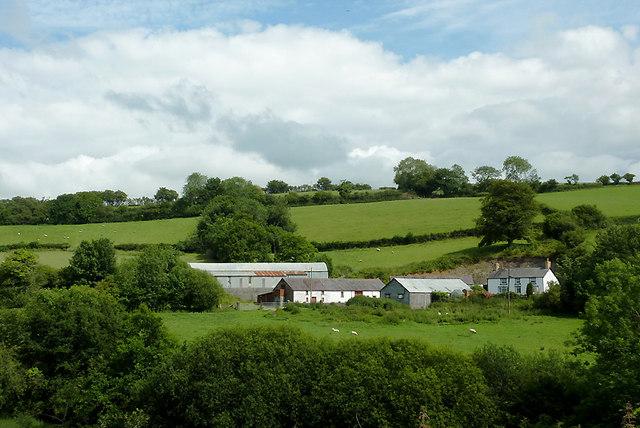 Pant-y-rhew  farm at Llwyn-y-Groes, Ceredigion