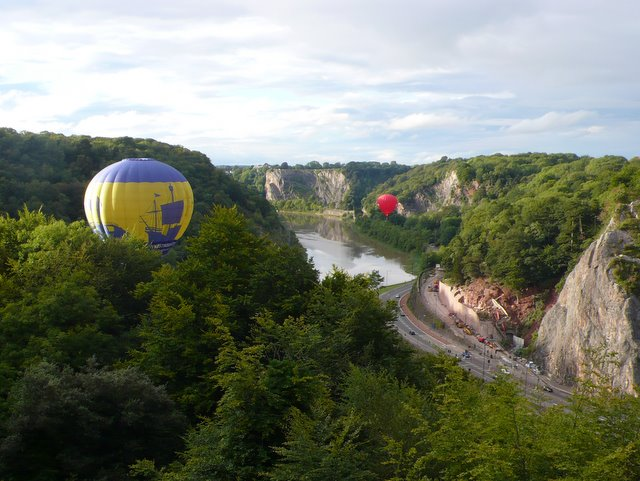 Balloons in the Avon Gorge