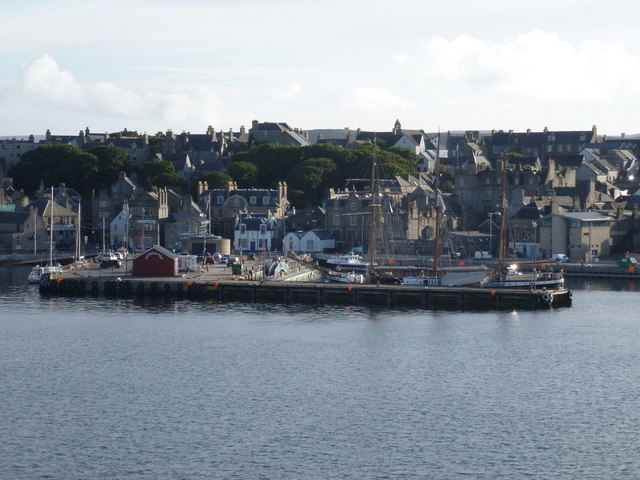 Lerwick: Victoria Pier from out on the water