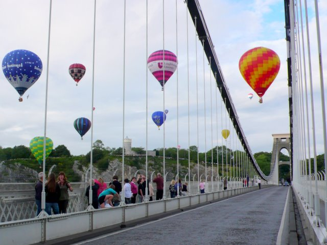 Bridge and Hot Air Balloons