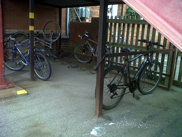 Cycle rack at Oakham station