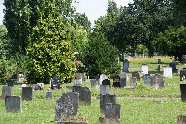 Gravestones in Morden Cemetery