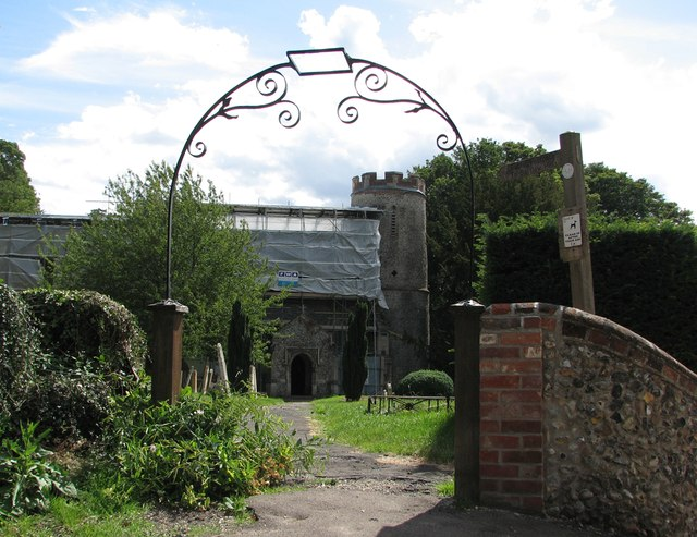 Bartlow: St Mary - restoration work
