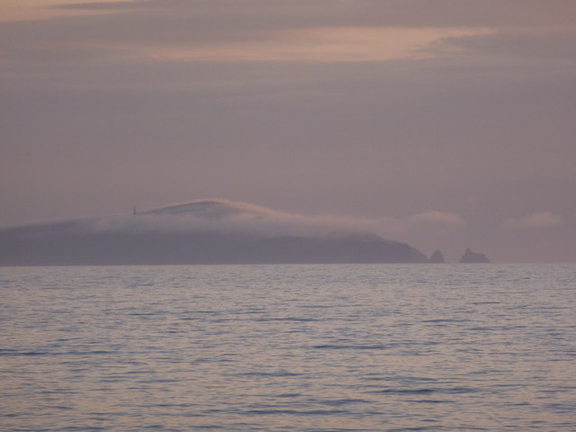 Fair Isle: Ward Hill is covered in cloud