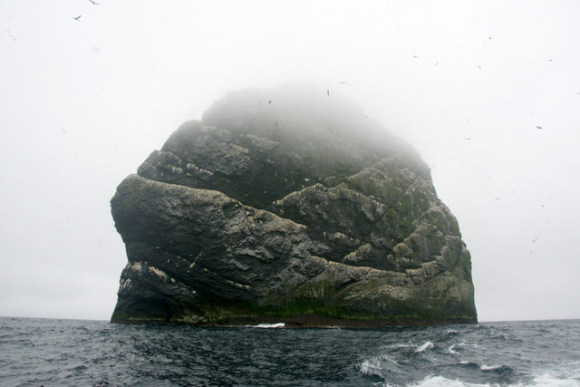 Stac Lee, Boreray, St Kilda, from the north-east