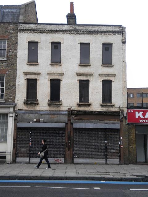Disused shops, 22-24 Whitechapel Road E1