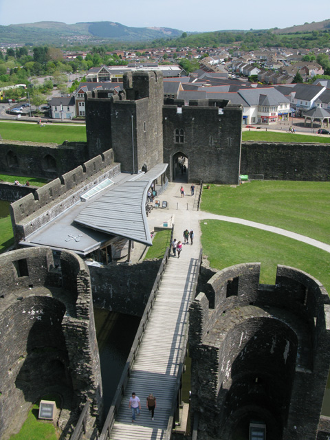 Outer Ward of Caerphilly Castle