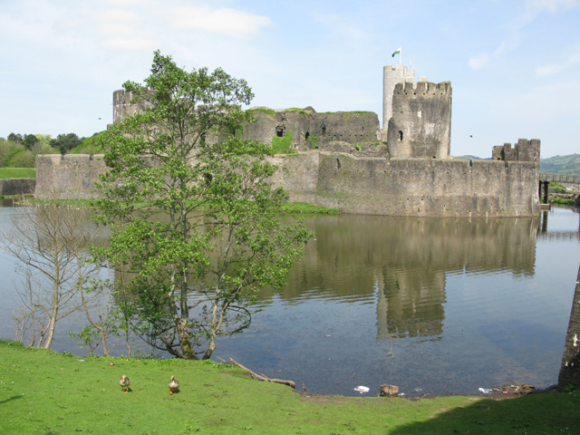 View of Caerphilly Castle from the south