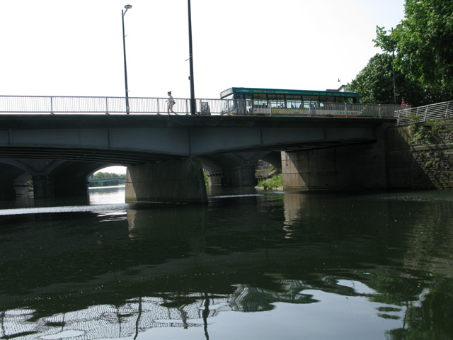 Approaching Wood Street Bridge