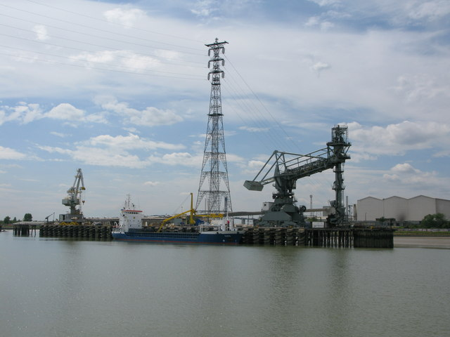 The Hagen moored at jetty, Thurrock