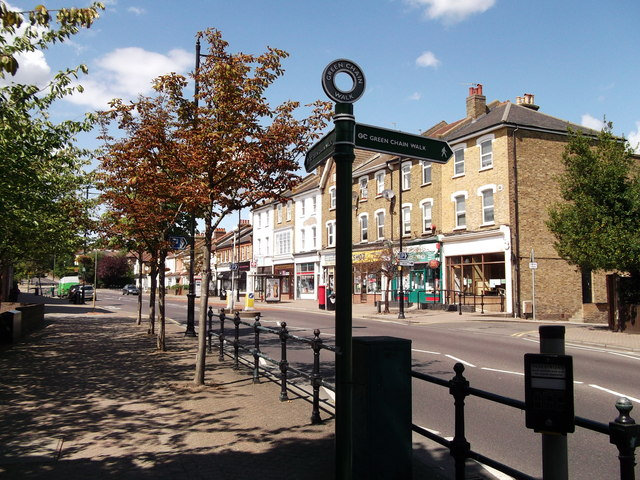 Green Chain Walk on Chislehurst High Street