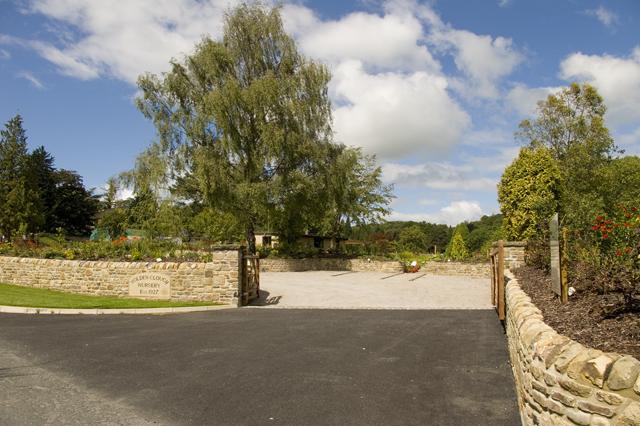 Entrance to Holden Clough Nursery